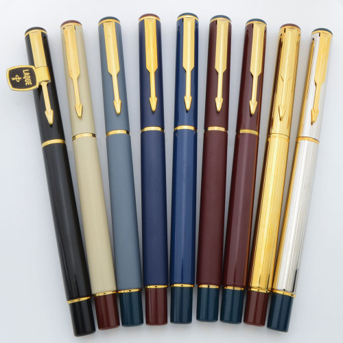 "Parker 88 ""Rialto"" Fountain Pens (1987-1992) - Various Colors (New Old Stock, Work Well)"