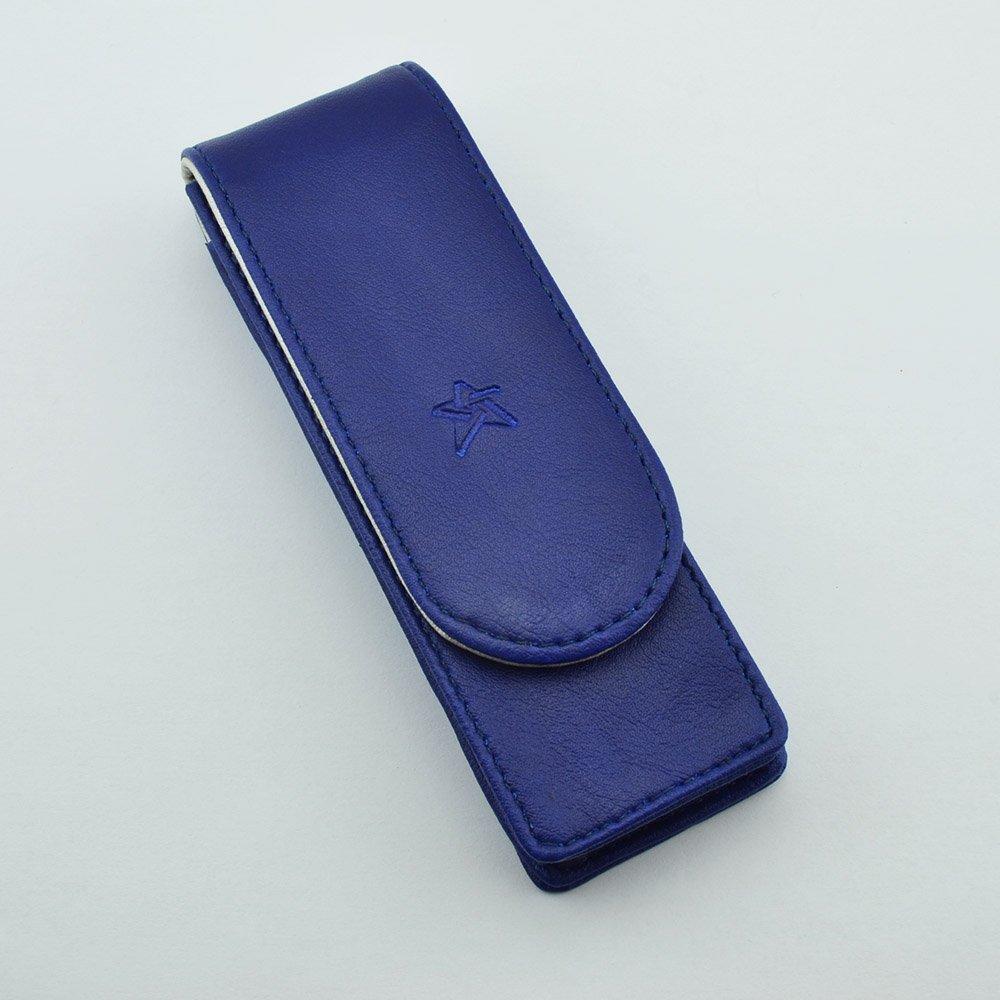 Twin pen case in blue