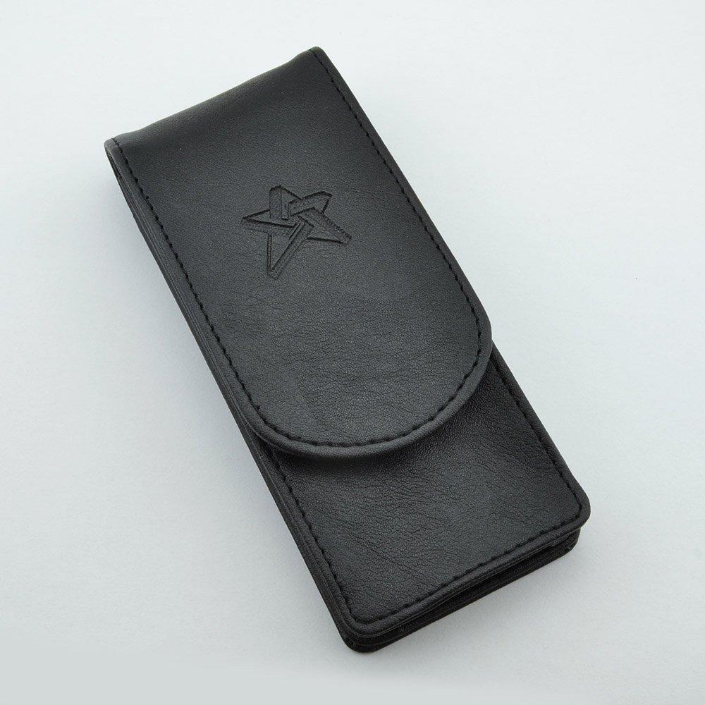 Triple pen case in black