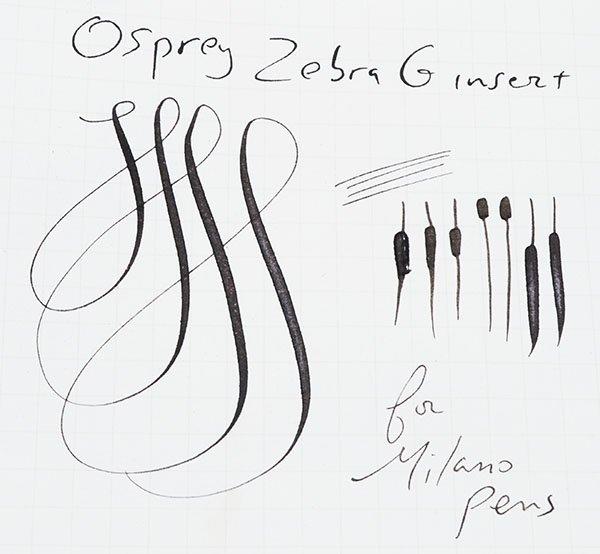 Zebra G writing sample
