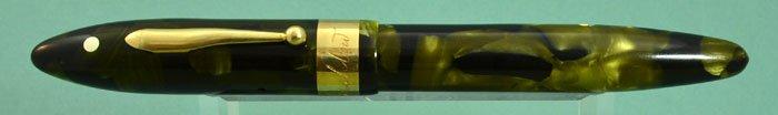 Sheaffer Balance Autograph - Oversized, Green Marble, Solid 14k Trim