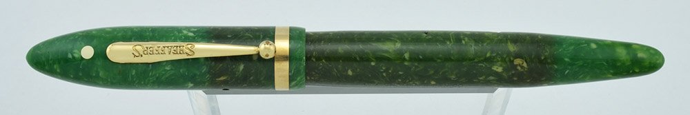Sheaffer Balance Lifetime long version, Jade Green, 14K two tone Lifetime nib