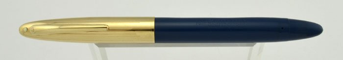 Sheaffer Crest Deluxe Fountain Pen - Persian Blue, 'Fat' Touchdown