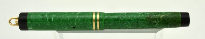 Sheaffer 5-30 Flat Top 1930 - Green with Black Ends, Ring Top