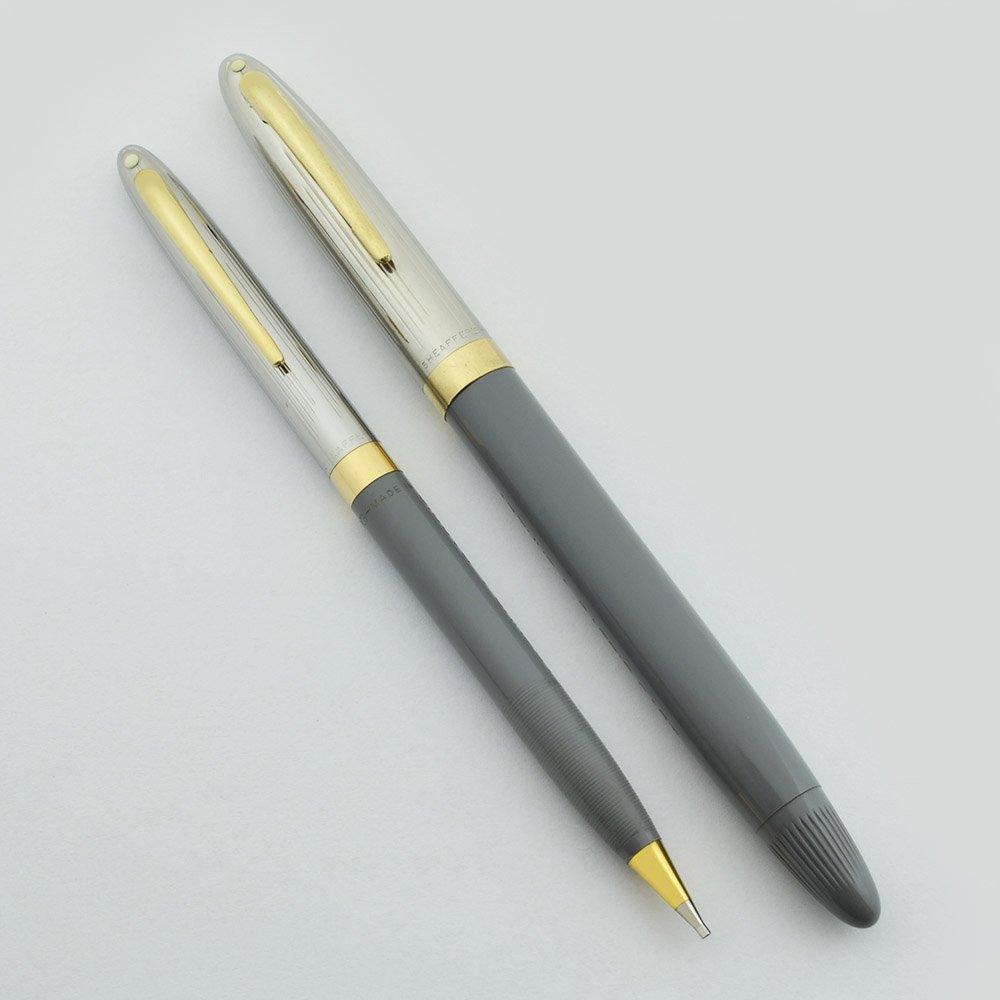 Sheaffer Sentinel Snorkel Fountain Pen Pencil Set - Grey ...