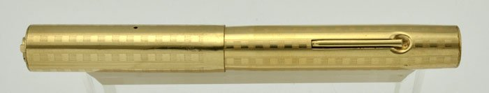 Sheaffer #2 Fountain Pen 1920s - Ring Top, GF w Squares Design