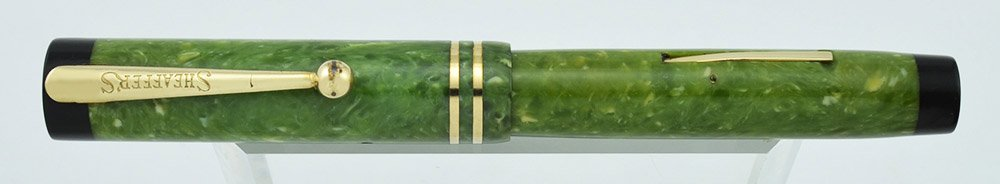 Flat Top 5-30 Jr, Jade Green Radite, 5-30 gold nib