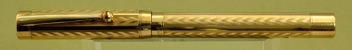 Sheaffer #2 Self Filling Flat Top - Gold Filled Chevron Pattern