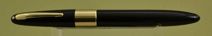 Sheaffer Triumph 2000 Autograph Fountain Pen - 1940s, Black with Wide Band, Solid Gold Trim, Lever Fill