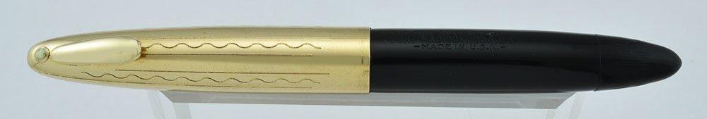 Sheaffer Crest Tuckaway 1750 - Black, GF Cap, Vac-Fil