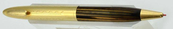 Sheaffer Crest Deluxe Tuckaway 600 Pencil - Brown Striated, GF Cap