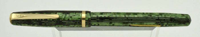 Sheaffer Sub-brand WASP 195 - Green Striped, Lever Filler