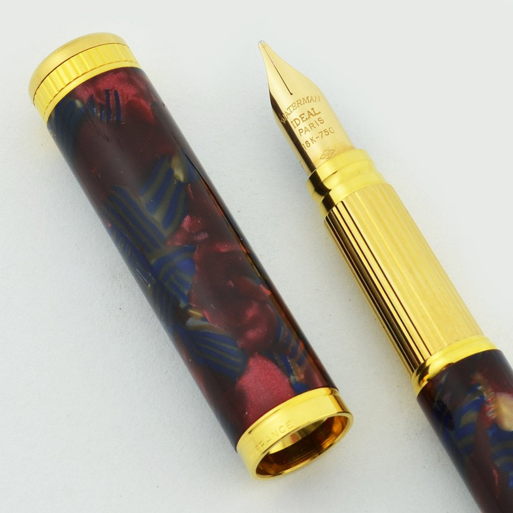 Waterman Lady Agathe Fountain Pen Red Amp Blue Marble