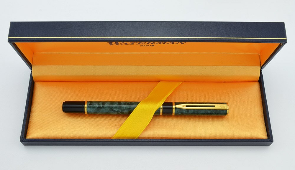 Waterman Laureat I Fountain Pen Green Marble Lacquer