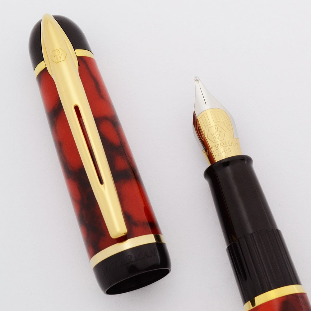 Waterman Phileas Fountain Pen Coral Red Marble Medium
