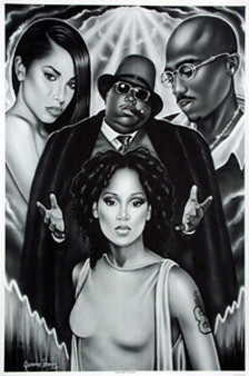 Guiding Lights of Hip-Hop (B&W) Art Print - Jerome Brown