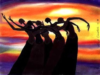 Sun Dancers Limited Edition Art Print - Leroy Campbell