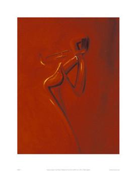 Golden Trumpet Art Print - Patrick Ciranna