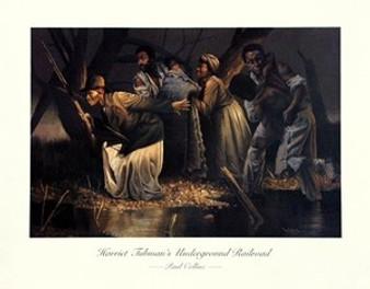 Harriet Tubman's Underground Railroad (small) Art Print - Paul Collins