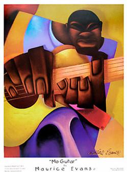 Mo Guitar Art Print - Maurice Evans