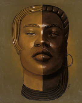 African Mask #29 Art Print - Laurie Cooper