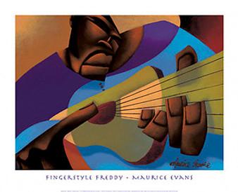 Fingerstyle Freddy Art Print - Maurice Evans