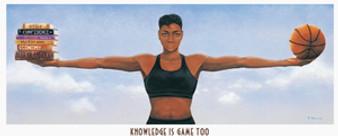 Knowledge Is Game Too Art Print - Shelton Gillis