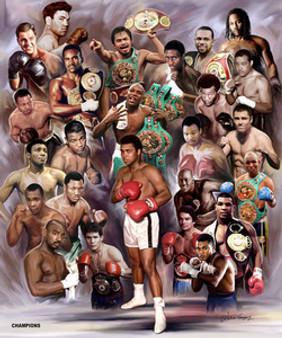 Boxing Greats: Champions #2 Art Print - Wishum Gregory