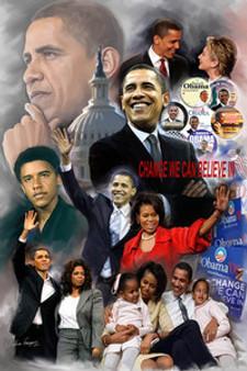 Obama - Change We Can Believe In Art Print - Wishum Gregory