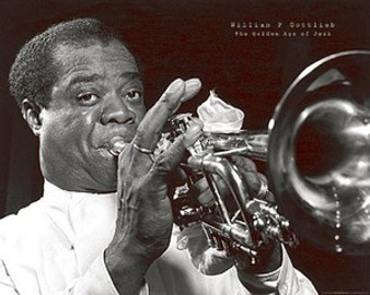 Louis Armstrong Art Print - William Gottlieb