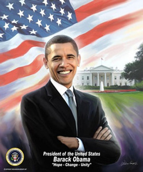 President Barack Obama Art Print - Wishum Gregory