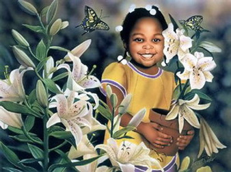 Flower Girl Art Print - Aaron & Alan Hicks