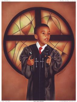 God's Little Preacher Art Print - Aaron & Alan Hicks