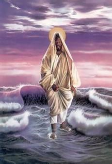 Christ Walking on Water Art Print - Aaron & Alan Hicks