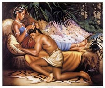 Samson and Delilah Art Print - Aaron & Alan Hicks