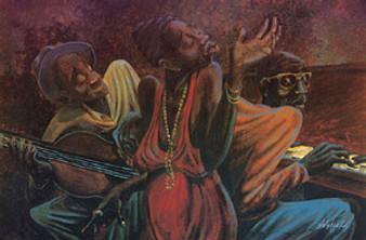 She Sang The Blues Art Print - John Holyfield