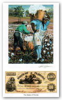 Color of Money - Slave Carrying Cotton: Florida Art Print - John Jones