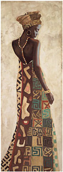 Femme Africaine III Art Print - Jacques Leconte