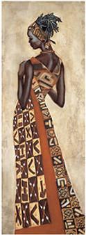 Femme Africaine II Art Print - Jacques Leconte