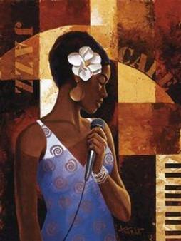 Jazz Cafe Art Print - Keith Mallett
