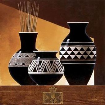 Patterns in Ebony II Art Print - Keith Mallett