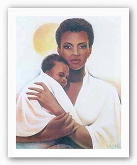 Mother and Child Art Print - Keith Mallett