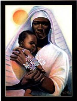 The Child and Madonna Art Print - Keith Mallett