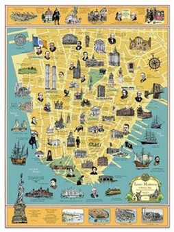 A History of Lower Manhattan Art Print - Tony Millionare