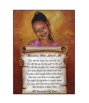 Because You Loved Me (Girl) Art Print - Robert Mosley