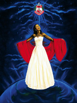 The Sky Is My Limit - Delta Sigma Theta Art Print - Johnny Myers