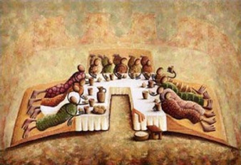 The Lord's Last Supper Art Print - Okaybabs