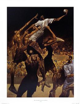 Anatomy of Team Handball Limited Edition Art Print - Kadir Nelson