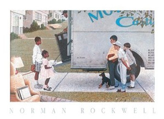 Moving In Art Print - Norman Rockwell