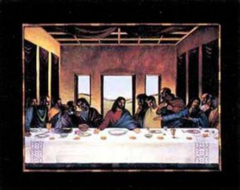 Black Last Supper Art Print - Lionel Talaro